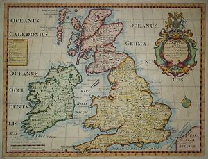 A-New-Map-of-the-Brittish-Isles-Edward-Wells-1701-Roemisches-Reich-in-GB-Roman