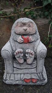 Hedgehog in chair hand cast stone animal garden ornament patio decor image is loading hedgehog in chair hand cast stone animal garden workwithnaturefo