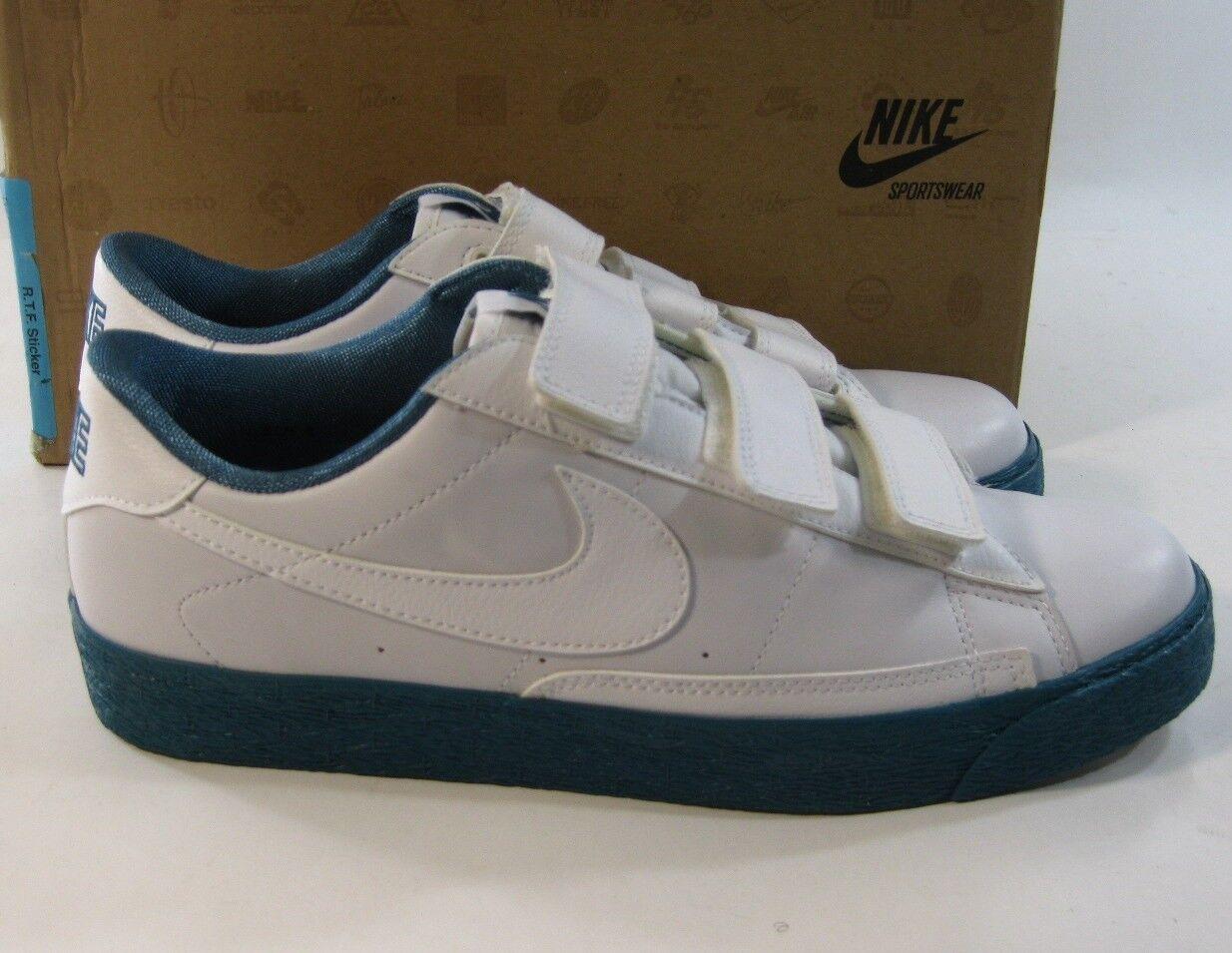 New Nike Blazer Ac 347637-103 Weiß Mens Basketball schuhe Weiß, Blau Größe 9