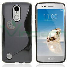 "Custodia Wave nera per LG K10 2017/ LG LV5 5.3"" cover TPU case gel flessibile"