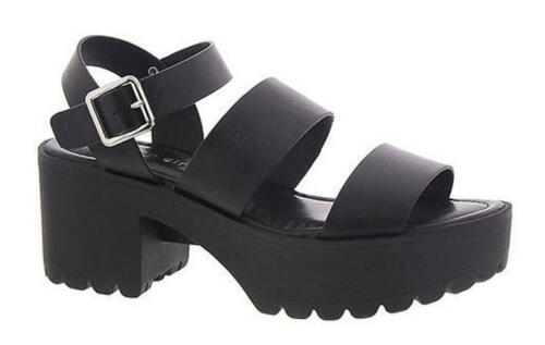 Strappy Stylish Heeled Sandals in Black MADDEN GIRL Chunky