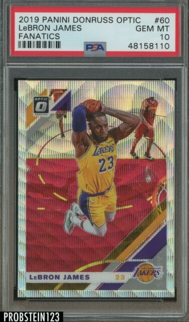 2019-20 Donruss Optic Holo Wave Fanatics #60 LeBron James Lakers PSA 10