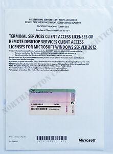 Diligent Windows Server 2012 Rds Terminal Services 5 Utilisateur Cals 09tg09 Dell Remote Desktop-afficher Le Titre D'origine