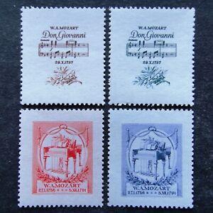 Germany-Nazi-1941-Stamps-MNH-Mozart-s-opera-Don-Giovanni-piano-WWII-B-amp-M-Third-Re