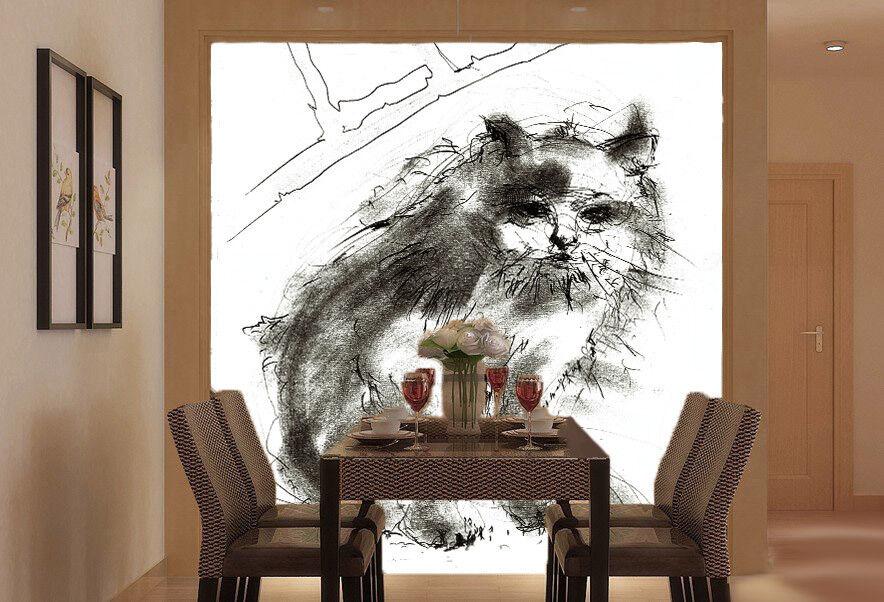 3D Hand Malerei Katzen 754 Tapete Wandgemälde Tapete Tapeten Bild Familie DE  | Professionelles Design  | Qualität  | Qualität Produkte