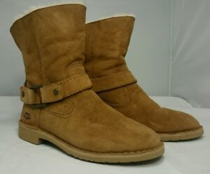 66e5793e6e9 Details about NEW 10 UGG Australia Cedric Boots Chestnut Ankle Booties  1012360 UggPURE Wool