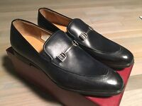 750$ Bally Washed Blue Leather Loafer Shoes Size Us 10 Made In Switzerland