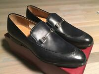 750$ Bally Washed Blue Leather Loafer Shoes Size Us 12 Made In Switzerland