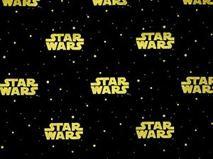STAR-WARS-LOGO-COTTON-FABRIC-GALAXY-CAMELOT-COTTONS-GOLD-METALLIC-BY-THE-YARD
