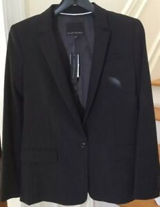Nwt: Banana Republic Wear To Work Black Blazer. Size 6. Retail $200. Good For Energy And The Spleen