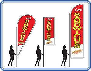 Fresh sandwiches flags , great for delis - Fresh sandwiches Flags Banners UK 1