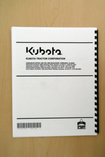 KUBOTA L2250 L2550 L2850 L3250 Model tractor operator/'s manualowner/'s guide