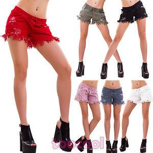 Diligent Short Femme Short Déchiré Rebords Effilochés Hotpants Sexy Neuf As-2231 Special Buy Clothing, Shoes & Accessories