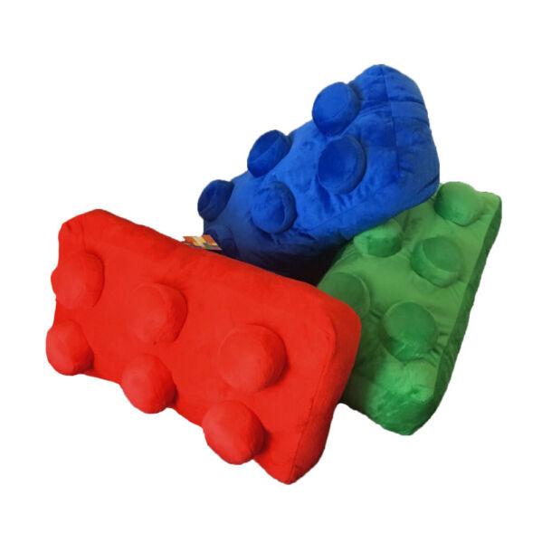 Cuscino Lego Mattoncino Rettangolare Virca Bricks 42x22x18 Cm Blue Rosso Verde 3