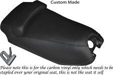 CARBON FIBRE VINYL CUSTOM FITS HYOSUNG GRAND PRIX 125 DUAL SEAT COVER