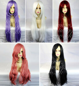 Watch-Out-Cosplay-Long-Straight-Wig-Purple-White-Black-Red-Pink-Ladies-Wigs-UK