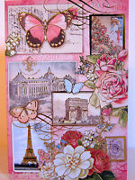 12 Punch Studio Paris Eiffel Tower & Butterfly Note Cards. 6 X 4. Gorgeous