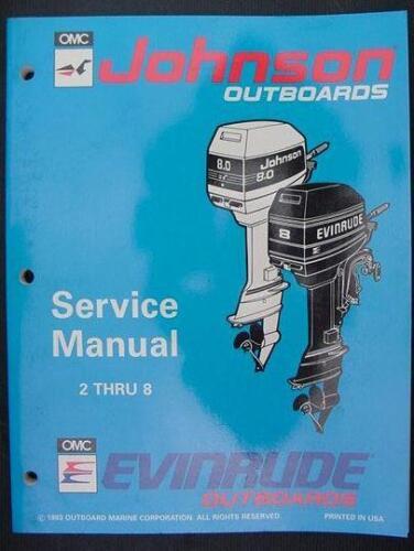 1994 EVINRUDE JOHNSON SERVICE REPAIR MANUAL 2 2.3 3.3 3 4 5 6 8 HP ...