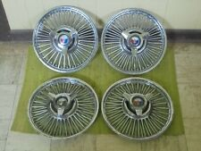 63 64 Ford Wire Spoke Spinner Hub Caps 14 Set 4 Wheel Covers Hubcaps 1963 1964 Fits Fairlane