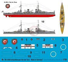 Peddinghaus 1/700 SMS Von der Tann German Navy Battlecruiser WWI Markings 3168