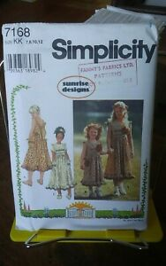 Oop-Simplicity-Sunrise-Designs-7168-girls-pinafore-sundress-boho-sz-7-12-NEW
