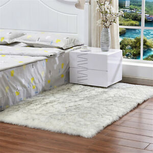 Sheepskin Faux Fur Rug Large Fluffy Sofa Mat Balcony Floor