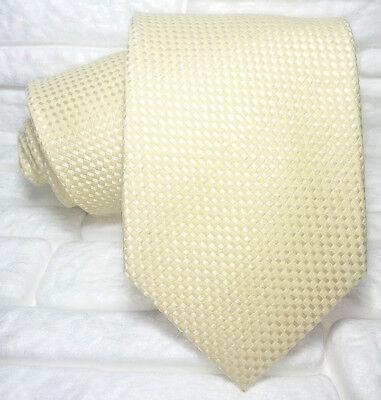 Cravatta Uomo Lana & Seta Giallo Made In Italy Business / Matrimoni