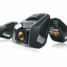 Car Dash Cam WiFi Dual Camera Driving Recorder with Parking Monitor 1920 X 1296P