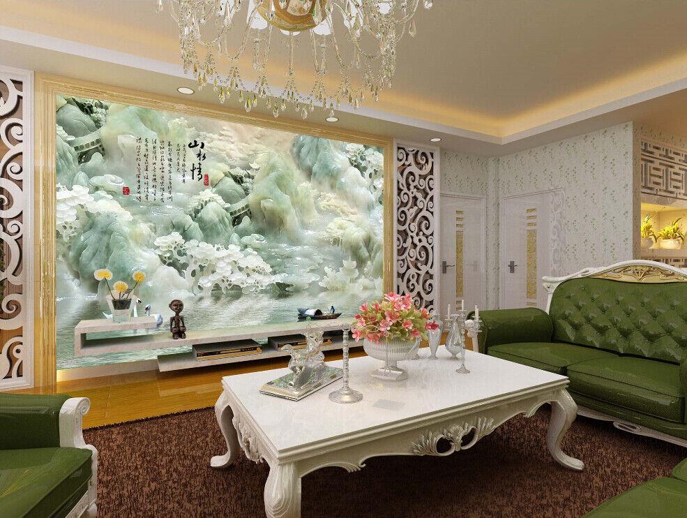 3D Jade Landschaft 853 Tapete Wandgemälde Tapete Tapeten Bild Familie DE Summer