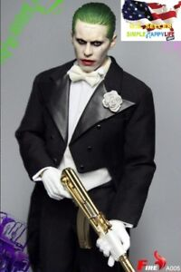 Computers/tablets & Networking Delicious ❶us In Stock❶1/6 Joker Jared Leto Tuxedo Suit Custome Gold Ak47 Suicide Squad
