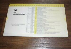 BMW-AW-Tabelle-1993-Arbeitswert-Richtzeiten-Reparaturzeiten-WERKSTATT-HANDBUCH
