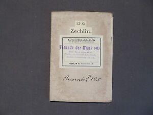 Landkarte Messtischblatt 1395 Zechlin Möckern Kagar 1913 Aromatischer Geschmack Flecken Zechlin