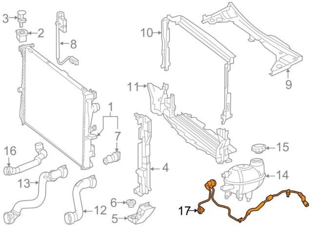 For Mercedes Genuine Engine Coolant Overflow Hose 1645060735
