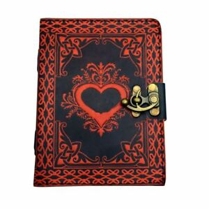 Women's Girls Heart Leather Journal - High Quality Writing Diary Pad Sketch Pad