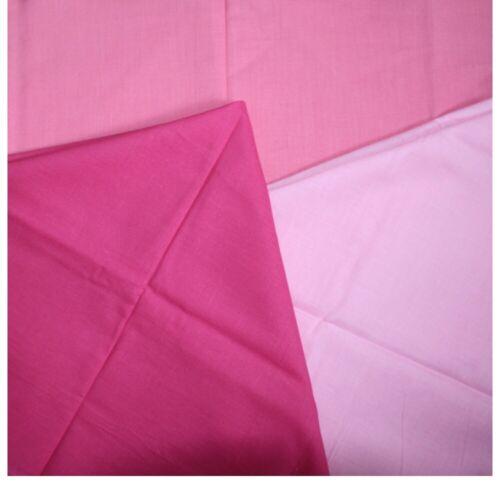 Bandana Scarf Pink Cotton Choice of shades Candy Pale Hot 22 inch Headscarf