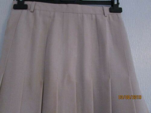 NWT LINED LINEN LOOK BEIGE PLEATED CALF LENGTH SKIRT 12 16 18 RRP £29.99