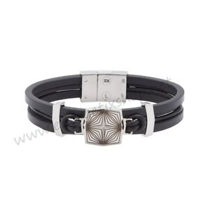 Image Is Loading Energetix Magnetic Decoration Mens Leather Bracelet With Laser