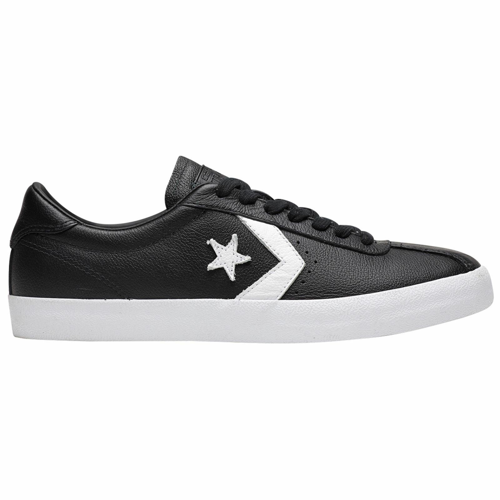 c87fa26ff42a2 Converse Breakpoint Ox Black White Mens Leather Retro Low-top Sneakers  Trainers for sale online