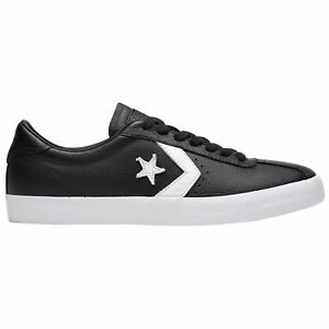 Converse Breakpoint Ox Black White Mens Leather Retro Low top Sneakers Trainers