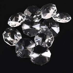 26mm-Clear-Crystal-Octagon-Beads-Crystal-Chandelier-2Hole-Prisms-Decoration