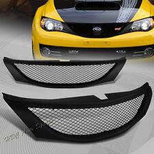 For 2008-2010 Subaru Impreza WRX JDM Sport Front Hood Black Mesh Grill Grille