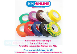 Quality-Electrical-PVC-Insulation-Tape-19mm-x-20m-BS-EN-60454-electrical-Work