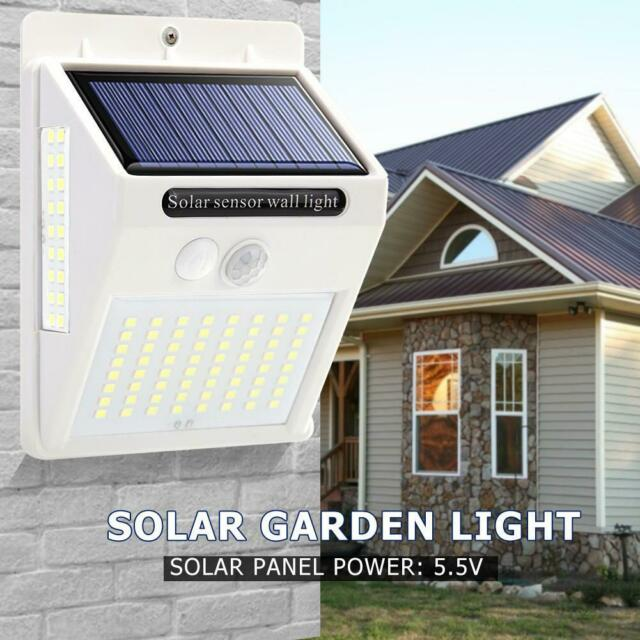 100LED Three-sided Solar Motion Sensor Wall Light Outdoor Waterproof Garden Lamp