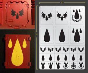 veicolo-Tear-Drop-AEROGRAFO-STENCIL-TERRAIN-veicolo-Stencil-mascheramento-Blood