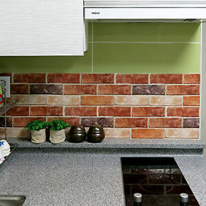 brick effect kitchen tiles brick effect tile stickers home decor kitchen bathroom 4882