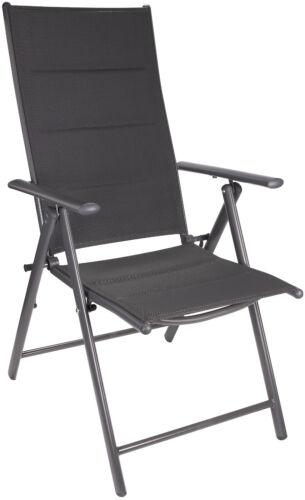 Garten Stühle Sitzgruppe Glastisch Klapptisch rund 70cm Ø 4 6 Hochlehner 2