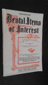 Revista Dental Items de Interes N º 11 Noviembre 1927 ABE