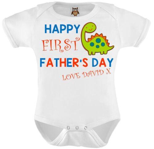 Personalizada bebé Chaleco Body Feliz Primer Día Del Padre Regalo Lindo Bebé Regalo Azul