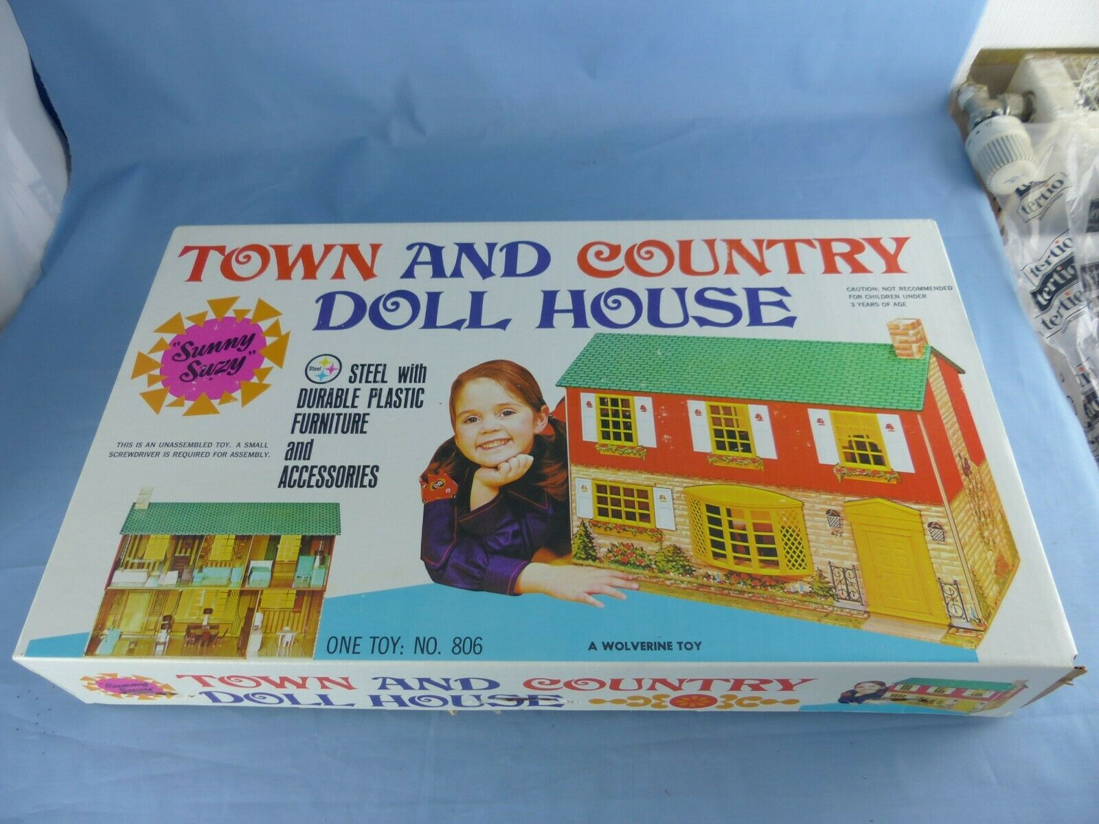 WOLVERINE TOY TOWN AND COUNTRY DOLL HOUSE TIN maison de poupée tôle litho N° 806