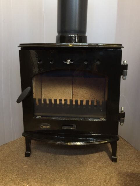 Carron 4 7kw Black Enamel Cast Iron Wood Burning Multifuel Stove Defra Roved